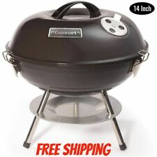 """Stainless Steel Portable Charcoal BBQ Grill Folding Barbecue Outdoor Camping 14"""""""