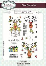 Creative Expressions A5 Clear Stamp Set Reindeer Fun CEC854