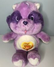 """Vintage 1984 Kenner Care Bear Cousins Bright Heart Raccoon 13"""" Plush Toy"""