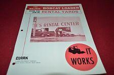 Bobcat Skid Steer Does The Job in Rental Yards 1976 Dealers Brochure DCPA2