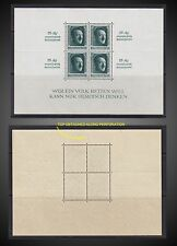1937 GERMAN REICH Hitler Birthday Sheet marginal inscription SCT. B104 NEVER H