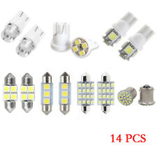 14x White LED Car Interior Inside Light Dome Trunk Map License Plate Lamp Bulbs