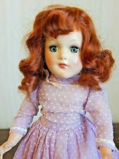"Unmarked Mary Hoyer 14"" Hard Plastic Doll w/Replaced Vintage Synthetic Wig"