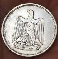 1960 EGYPT 5 PIASTRES .72 SILVER 3.5 GRAM ****XF/AU*** COIN