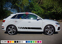 Sticker Decal Graphic Side Door Stripe Kit for Audi Q3 2015 2018 2019 2020 Sport
