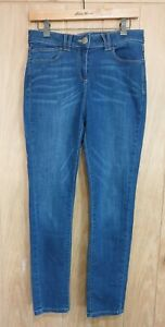 M&S size 12 blue stretch denim jeggings leggings skinny jeans W30 L30