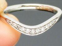 9ct Gold Diamond Hallmarked 1/2 Eternity Ring size M