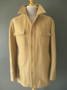 """VTG HELMUT LANG CHORE COAT JACKET (M-42"""") FAWN WOOL QUILTED-LINING HEAVYWEIGHT A"""