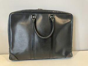 Louis Vuitton Porte Documents Voyage PM Epi Leather Black