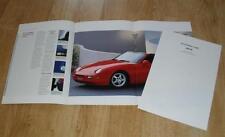 Porsche 968 Coupé & CABRIO FOLLETO 1992 hoja de especificaciones incluso Reino Unido