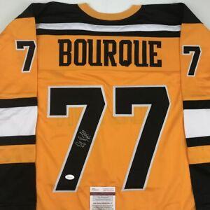 Autographed/Signed RAY BOURQUE Boston Yellow Hockey Jersey JSA COA Auto