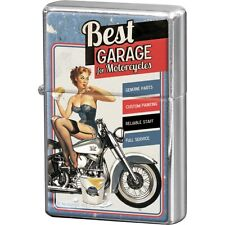 Accendino Zippo Repro Vintage Design Mod. Best Garage - Blue