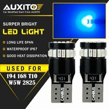 2X AUXITO Blue 168 194 921 Wedge License Side Marker Light Canbus LED Bulb EOA