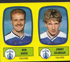 Panini Football 1988 Sticker - No 520 - Falkirk - Ken Eadie & Jimmy Gilmour