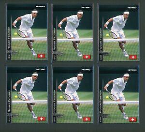 Lot of (11) 2003 NetPro Int'l Series Roger Federer Rookie 🎾 Hi Res Scans 🎾