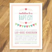 25 Personalised Christening Naming Day Baptism Party invitations girl boy