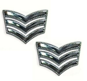 2 x Sergeant Roped Stripes Chevrons Police St Johns Ambulance Security Army MET
