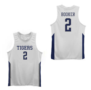 Throwback Devin Booker #2 Tigers High School Basketball Jerseys Sewn 3 Colors