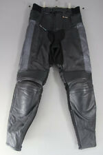AKITO LEATHER BIKER TROUSERS + CE KNEE ARMOUR SIZE 12: WAIST 28/INSIDE LEG 29 IN