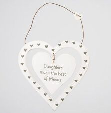 Heart Shaped Daughter Decorative Indoor Signs/Plaques