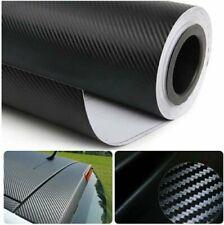 3D Carbon Fiber Vynil 120X60 Roll Car Wrap Bubble Free Twill Weave Black Film