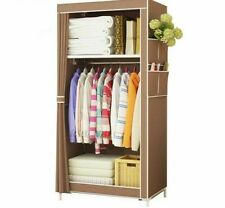Wardrobe Storage Closet Finishing Furniture Cabinet Steel Tube Clothes Organizer