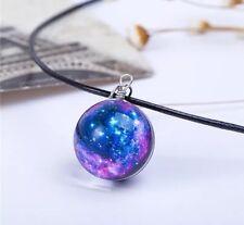 Glass Galaxy Universe Stars Pendant Necklace Uk Seller