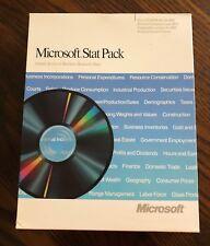 Vintage Microsoft Computer Software - Stat Pack