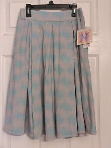 NWT LuLaRoe S Madison Skirt NEW Pink Blue Cotton Candy With Pockets Pastel