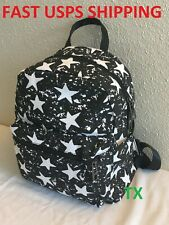 Girls Teenagers Travel Small Black Star Backpack Women Purse Christmas Birthday