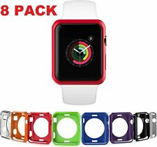 8 Color Pack Cover Protective Case for Apple Watch 38/40/42/44mm Series 4/3/2/1