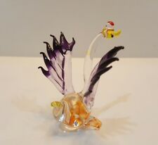 Hand Blown Glass Colorful Swan6 Figurine Art Mini Collectibles Home Decor Gift