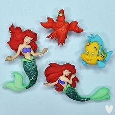 Disney La Sirenita 7726 Vestido para arriba adornos de pescado langosta Botones -