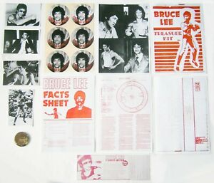 Facsimile KFM Treasure Kit Bruce Lee Kung Fu Monthly Badge Postcards Chart +More