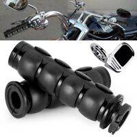 "Black 1"" Pair Hand Grips +Throttle Boss Fit Yamaha Road Star Warrior Midnight X"