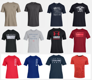 Under Armour T Shirts Mens Small to 4XL Authentic UA Short Sleeve Cotton Tees