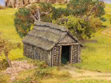 Renedra wattle timber outbuilding - wargames scenery 28mm