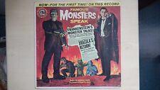 FAMOUS MONSTERS SPEAK Wonderland/Golden AA Records LP 60s