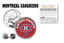 MONTREAL CANADIENS NHL Legal Tender Canada Quarter Coin