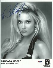 Barbara Moore Signed Playboy 8x10 Photo PSA/DNA COA Playmate Headshot Autograph