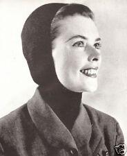 Vintage Hood Ski Hat Head Cover Scarf Knitting PATTERN