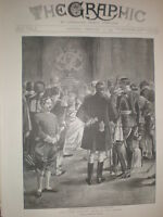 The First Drawing Room of the Season 1895 old print Reginald Cleaver
