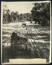 WWII British Armoured Division Sherman Lee Tanks Burma Official Photograph 1945