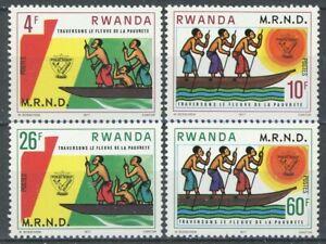 sb0194 Rwanda - Sc#875-78 MNH