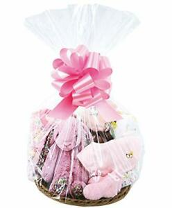 Cello Bags,10X 18x30inches Clear Cellophane Bags Gift Baskets, Presents,Weddings