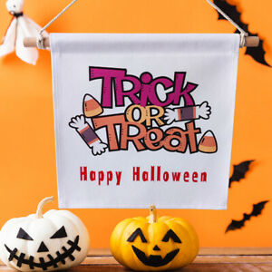 Creative Halloween Tapestry Trick or Treat Letter Wall Hanging Home Decoration