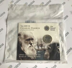 ~Simply Coins~ 2009 CHARLES DARWIN TWO 2 POUND COIN ROYAL MINT PACK SEALED!