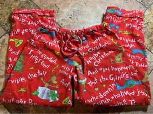 Size Small Pottery Barn Pb Teen Dr Suess How The Grinch Stole Christmas Pajama P