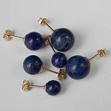 Handmade Lapis Lazuli Round Fine Earrings