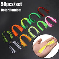 Sinking Silicone Skirts Jig Bait Soft Fishing Lures Beard Windless Rubber Squid